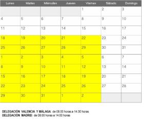 horario valencia-malaga-madrid